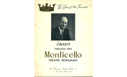 Monticello Theatre Restaurant Menu