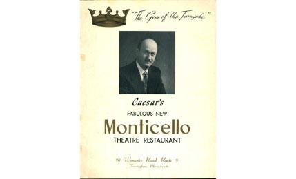 Monticello Theatre Restaurant Menu